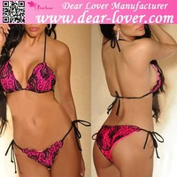 wholesale new arrival hot Ruffle Cut Scrunched Butt Lace sexy girl top brand name bikini