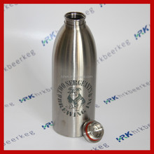 Customized logo printed metal steel 32oz/ 1000 ml glass bottle
