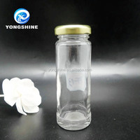 100ml round long cylindrical shape storage glass mason jar with screw tin lid for sell