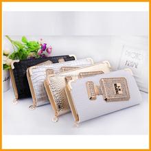 Top Grade Europe Perfume Bottle Women Leather Clutch Wallet