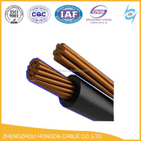 600/1000V LDPE Insulated Black Self Supporting Copper Cable Overhead Cable