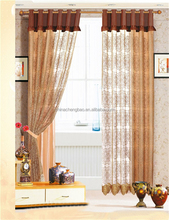 Latest voile curtain design day night dining room curtains