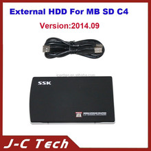Professional Newest 2014.09 Version MB Star C4 D SD C4 External HDD DAS/XENTRY/EPC/WIS V2014.09 Software