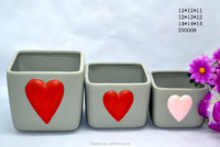 valentines day gifts, beatiful ceramic heart shaped flower pot ,ceramic flower pot for girls