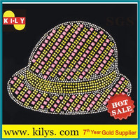 hot fix motif Heat Transfer Rhinestone Hat Print Motif