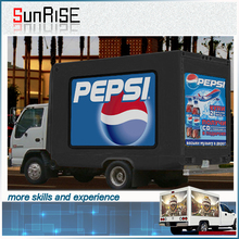 Mounted led screen TV truck,movable advertising billboards vehicle, outdoor