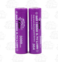 2015 New KDEST 18650 40Amp battery IMR 18650 3000mAh 3.7V 40A battery, 18650 40A,18650 rechargeable batteries