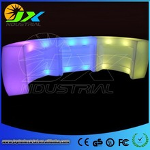 New Technology PE RGB Plastic Illuminated Led Bar Counter Lighted Bar Counter Top