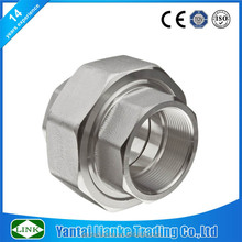 butt welded fitting Stainless Steel 304 M/F flat seat union pipe Fitting