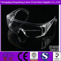 CE EN166 Surgical anti fog dust protection eye shield safety goggles