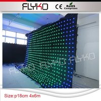 low price glowing led video screen with easy transport