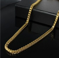 2015 fashion men necklace 316 stainless steel chain