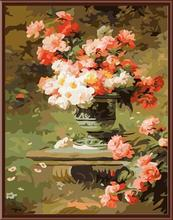 GX6819 classical flower picture 2015 new abstract oil painting by numbers