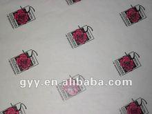 2012 elegant rose printed silk paper for ladies