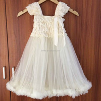 Fashion teen girls party dress white lace for bay girls wholesale party dress for girls