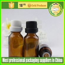 cosmetic glass bottle,amber glass bottle with tamper screw cap and internal tip