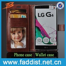 hot selling mobile phone case PU leather for LG G4 card slots