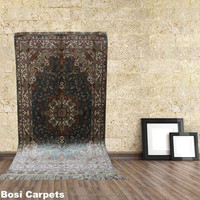 Carpet manufacturer wholesale 2.5x4ft small size man made persian kids area rug in silk