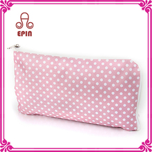 Fashion small fabric bag , light pink custom pencil case & pouc for pen