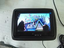 9 inch taxi digital ads display LCD headrest with IR body sensor