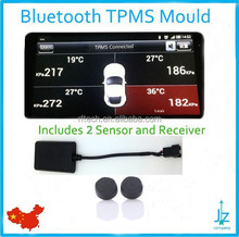 smartphone TPMS wireless tire pressure monitoring system 2 external sensor android bluetooth Motorcycle TPMS