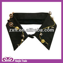 Latest White Detachable Collar with Button Decorate(#4-1540)