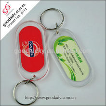 OEM accepted promotional gifts printed clear plastic custom acrylic keychain