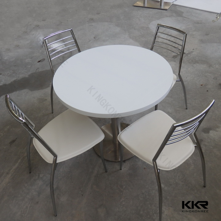 cafe bar acrylic solid surface folding dining table and chairs
