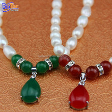 Wholesale pearl necklace jewelry fresh water fashion pearl necklace in bulk