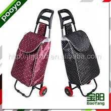 popular style shine fabric shopping trolley bottom price carrier wine bag