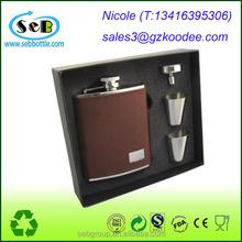 Hip Flask 7oz Set Portable Stainless Steel Flagon Wine Bottle Gift Box Pocket Flask