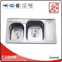 Vanity Double Utility Sink With Drainboard