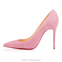 JUSITY red bottom pink china wholesale women high heels shoes size 12