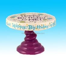 Happy Birthday Ceramic Mini Cake Holder Stand&cake stand