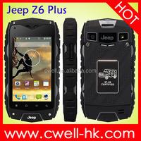Jeep Z6+ MTK6582 Quad Core Rugged Smartphone 4.0 Inch IPS Screen Dual SIM Card 8.0MP Camera WIFI GPS MTK6582 Quad Core Phone