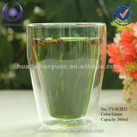 Borosilicate heat resistant double wall drinking glass sets