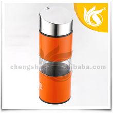 New and Fashionable 2PCS Orange Plastic Kitchen Oil Cruet