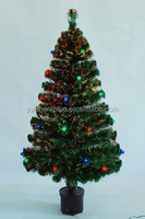 Wholesale Plastic Festival Party Decoration With Colorful Ball Fiber Optic Christmas Tree