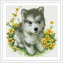 DZ052 lovey dog 2.5mm full drill framed oil canvas diamond paintings by artist