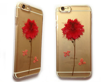 2015 Dry pressed natural real flower phone cover case for mobile phone case, cell phone case, for iphone case