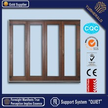 High Performance CE/AS2047 Certified Thermal Break Frosted Glass Folding Door
