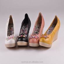 High Quality Wedge Colourful New Style Causal Lady Shoes