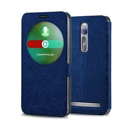 Window View Magnetic Wallet Flip Leather Case For Asus Zenfone 2 ZE551ML