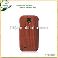 Hot selling natural wood custom logo laser designs wood phone case for samsung galaxy s4 i9500