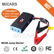 12V emergency kit mini multifunction jump starter car 16800mah jump start battery jumper power supply 12V MC08 car jump starter