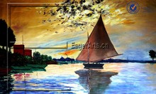 Modern Beautiful Seascape Landscape Oil Painting