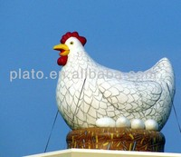 Advertising inflatables for roof decoration giant inflatable chicken inflatable led chicken model for promotion