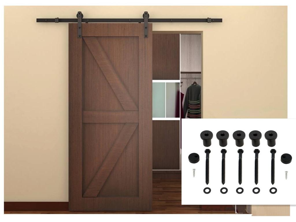 Interior sliding barn door hardware wood sliding door system for Wood interior barn doors