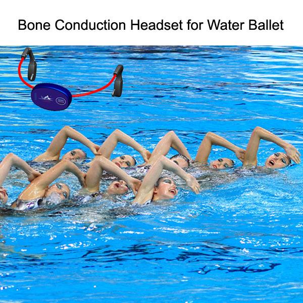 뼈 전도 이어폰, 수영 코치 훈련 수중 통신 시스템 코치 학생