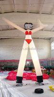 Air dancer, single leg inflatable air dancer